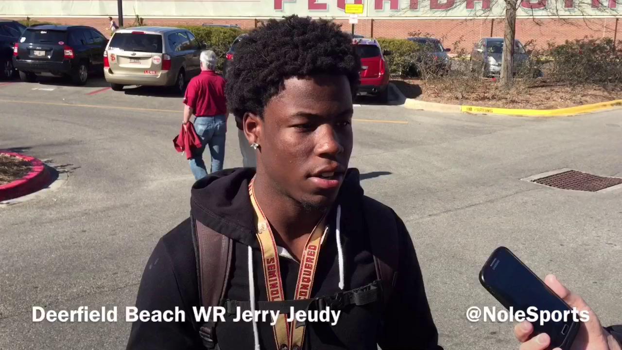 Video: 4-star WR Jerry Jeudy recaps FSU Junior day visit