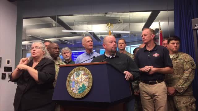 Gov. Scott gives update on Hurricane Matthew. (Thursday, Oct. 6, 2016)