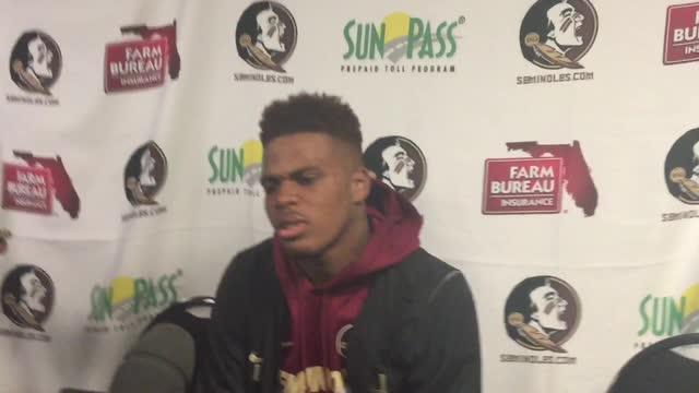 Florida State quarterback Deondre Francois talks after the Miami win.
