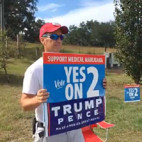 Outside Tallahassee Trump Rally