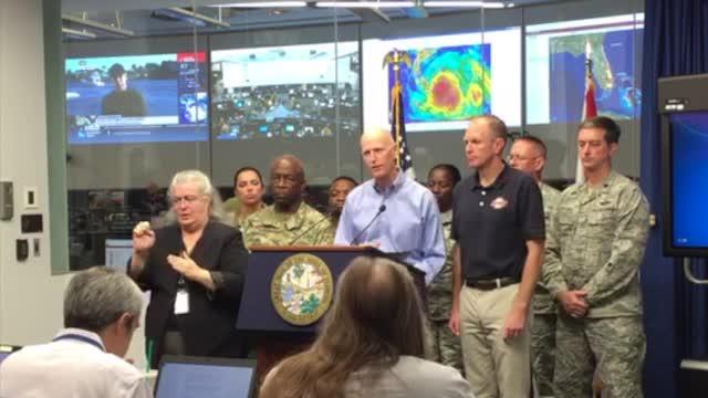 Gov. Scott discusses Hurricane Matthew