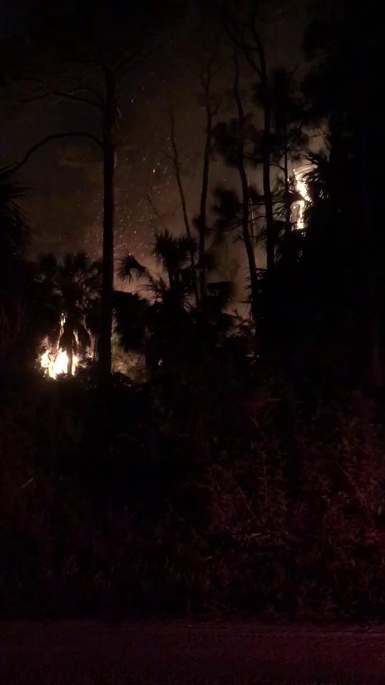 Watch it: Fire on St. George Island