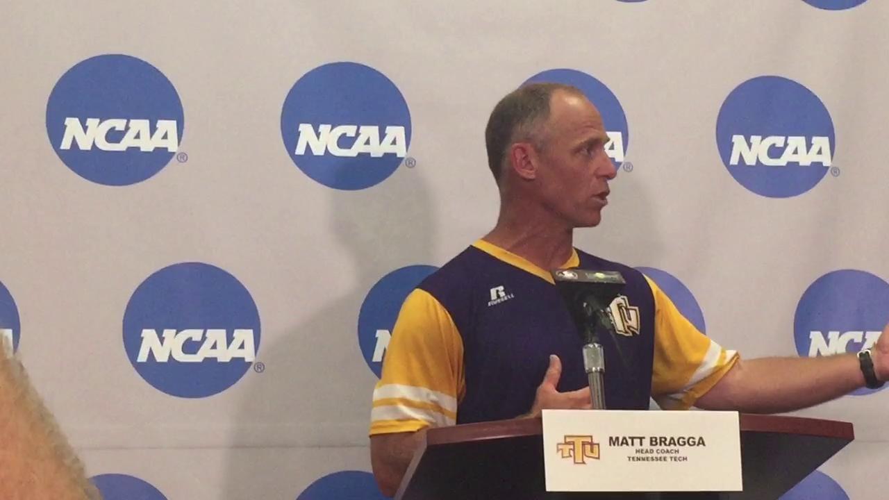 Tennessee Tech coach Matt Bragga talks Tallahassee regional