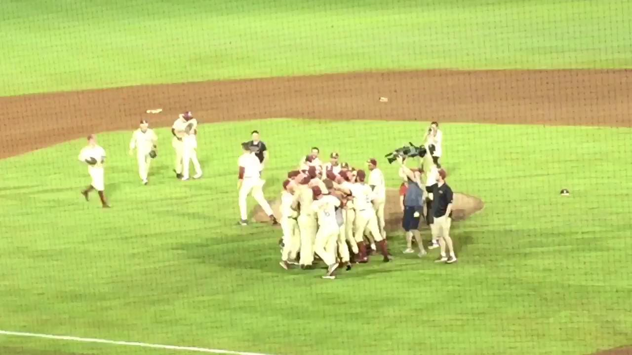 Watch it: FSU celebrates making the College World Series