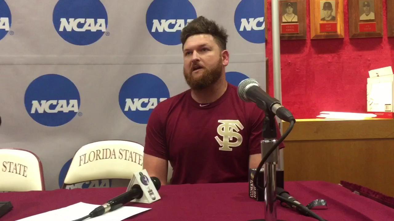 Watch it: FSU senior Quincy Nieporte talks super regional