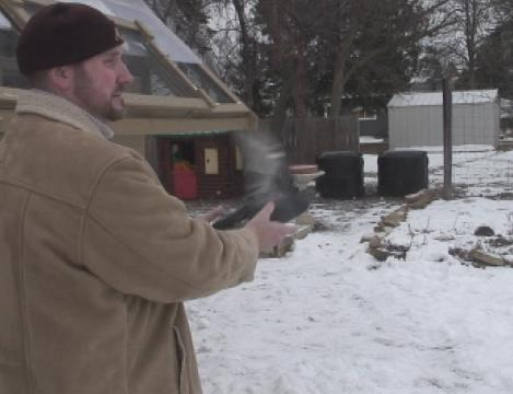 File footage: Brian Mader of Schofield participates in an ancient but little-known sport: racing pigeons. Footage is from the winter of 2013.