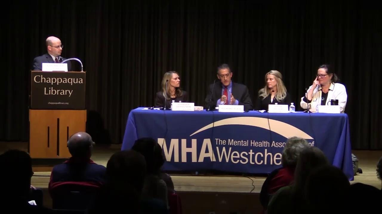 Suicide prevention panel discussion in Chappaqua