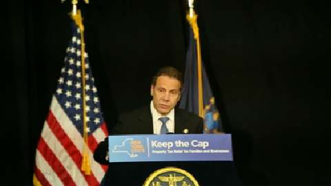 Gov. Andrew Cuomo spoke in Nyack, Rockland County, in 2015 about extending the property-tax cap, which was ultimately done by the state Legislature. (Video by Tania Savayan / The Journal News )