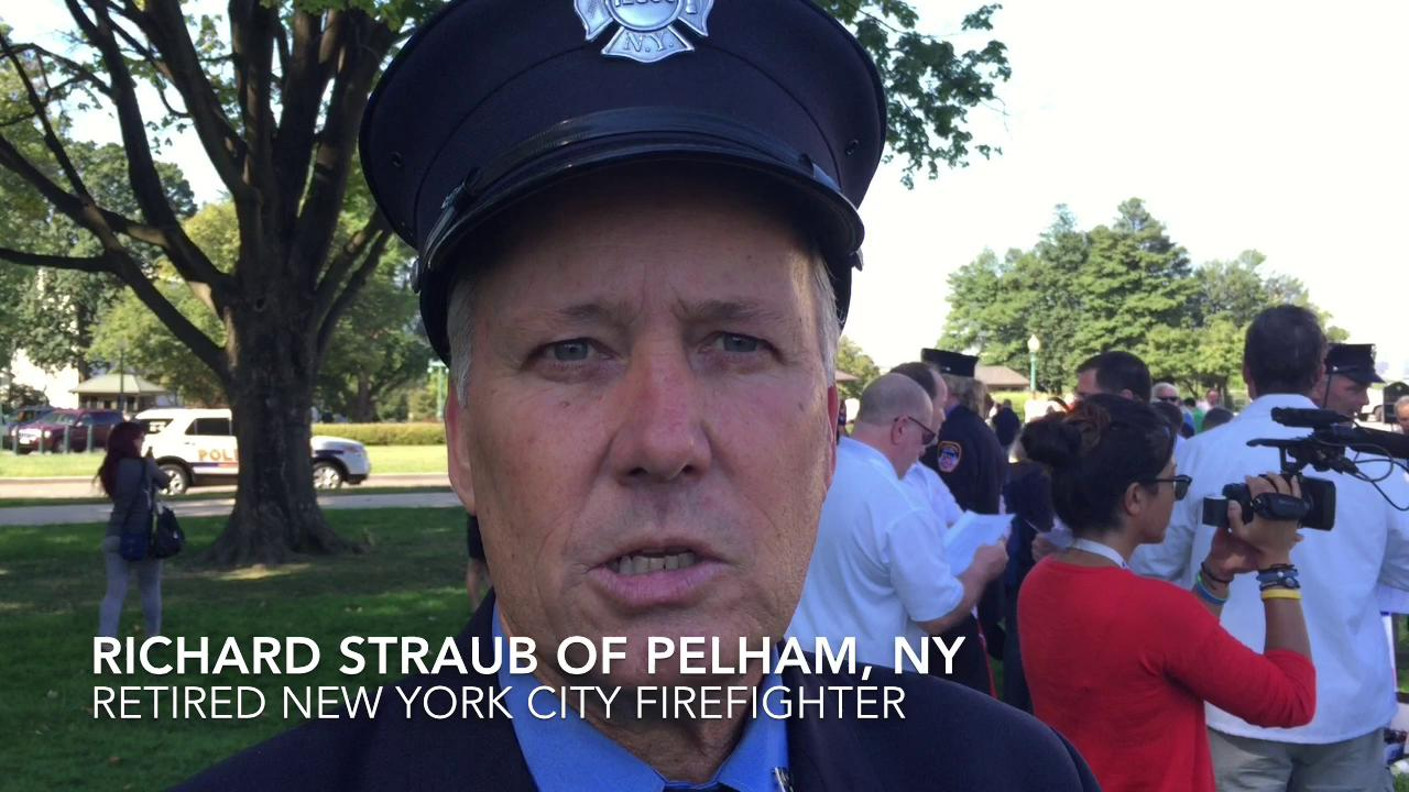 Retired New York City firefighter Richard Straub of Pelham was among the people who responded to the attack on the World Trade Center on Sept. 11, 2011.