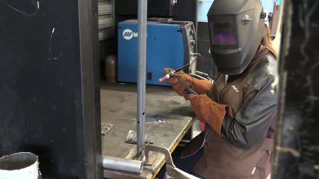 rockland student finds her spark in welding class