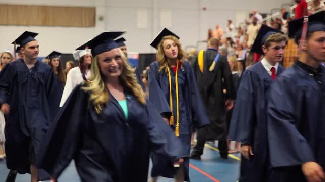 Carmel High School graduates celebrate their commencement at Western Connecticut State University in Danbury, June 23, 2016