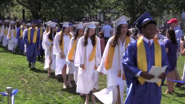 Pelham Memorial High School held their 103rd commencement on the campus in Pelham, June 25, 2016. (Video by Mark Vergari/The Journal News)