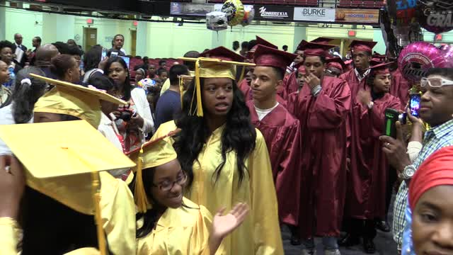 Mount Vernon High School holds their 2016 graduation ceremony at the County Center in White Plains.