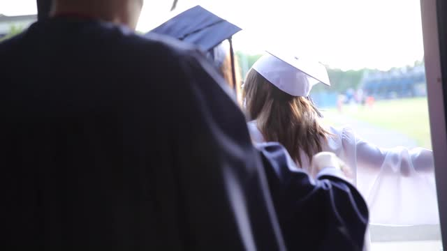 Putnam Valley graduates celebrate their commencement at the high school in Putnam Valley on Friday.