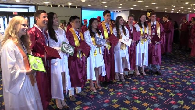 Harrison High School held their graduation at Purchase College, SUNY, June 24, 2016. (Video by Mark Vergari/The Journal News)