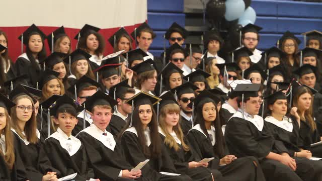 Rye Neck High School graduation ceremony in the gym at Rye Neck High School in Mamaroneck June 23, 2106. (Video by Frank Becerra Jr./The Journal News)