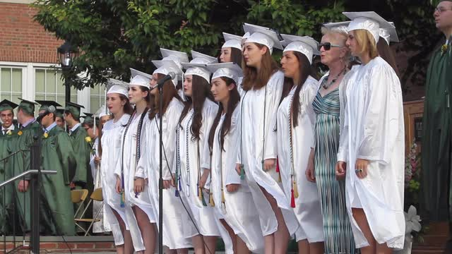 Pleasantville High School class of 2016 graduation ceremony in front of the school June 24, 2016. (Video by Frank Becerra Jr./The Journal News)