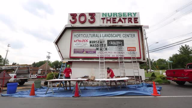 Rockland S Drive In Movie Theater Signs Evoke Past