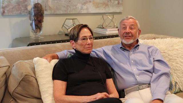 Marilyn and Edward Kaplan were on a flight from London on Sept. 11, 2001 when they were diverted to St. John's, Canada. They stayed in a local high school and slept on gym mats for a few nights until air traffic resumed.