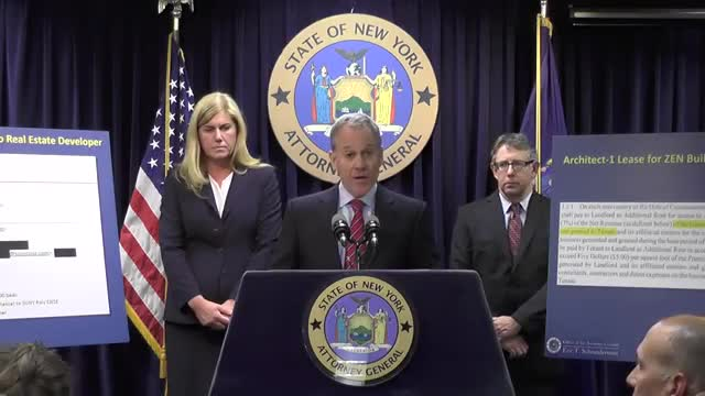 Video: Schneiderman lays out charges against Kaloyeros
