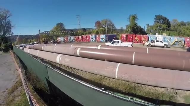 Video: Protesters in pipe near Indian Point