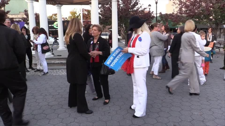 Video:  Nyack pants suit gathering