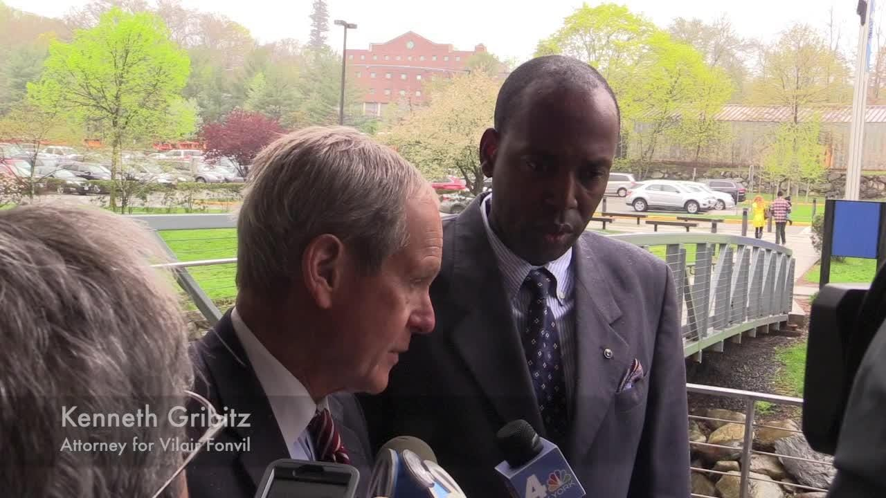 Video: Vilair Fonvil arrives at Rockland County Courthouse