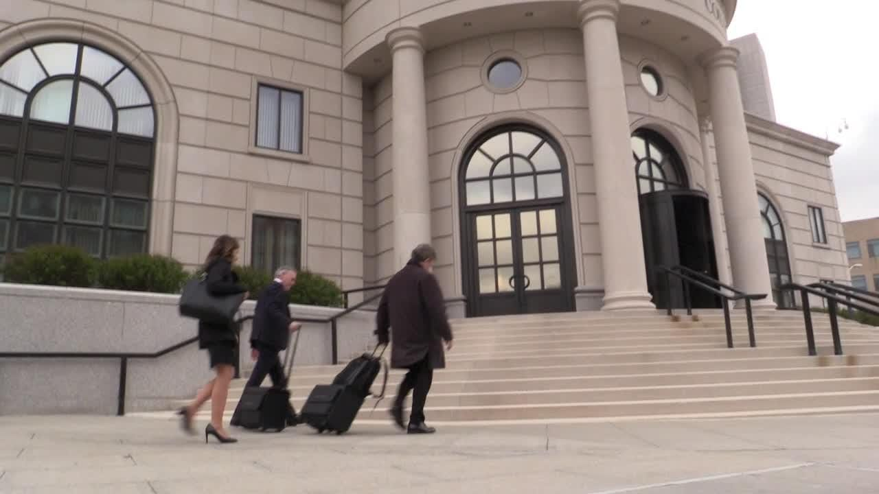 Video: Christopher St. Lawrence arrives for jury selection
