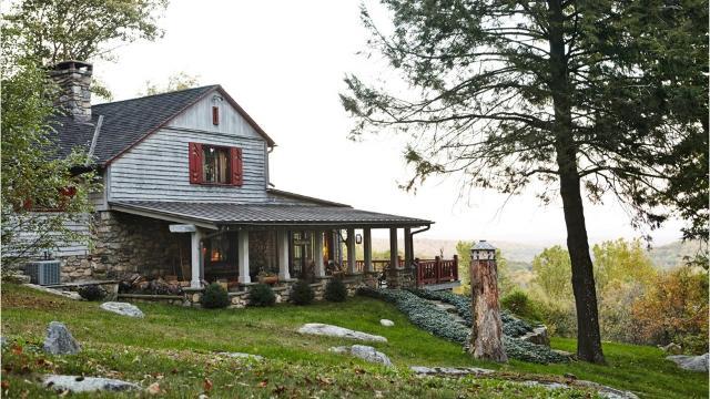Kent homeowner transformed a run down 1929 summer cottage into a modern-era Adirondack 'Great Camp.' Video Karen Croke/The Journal News