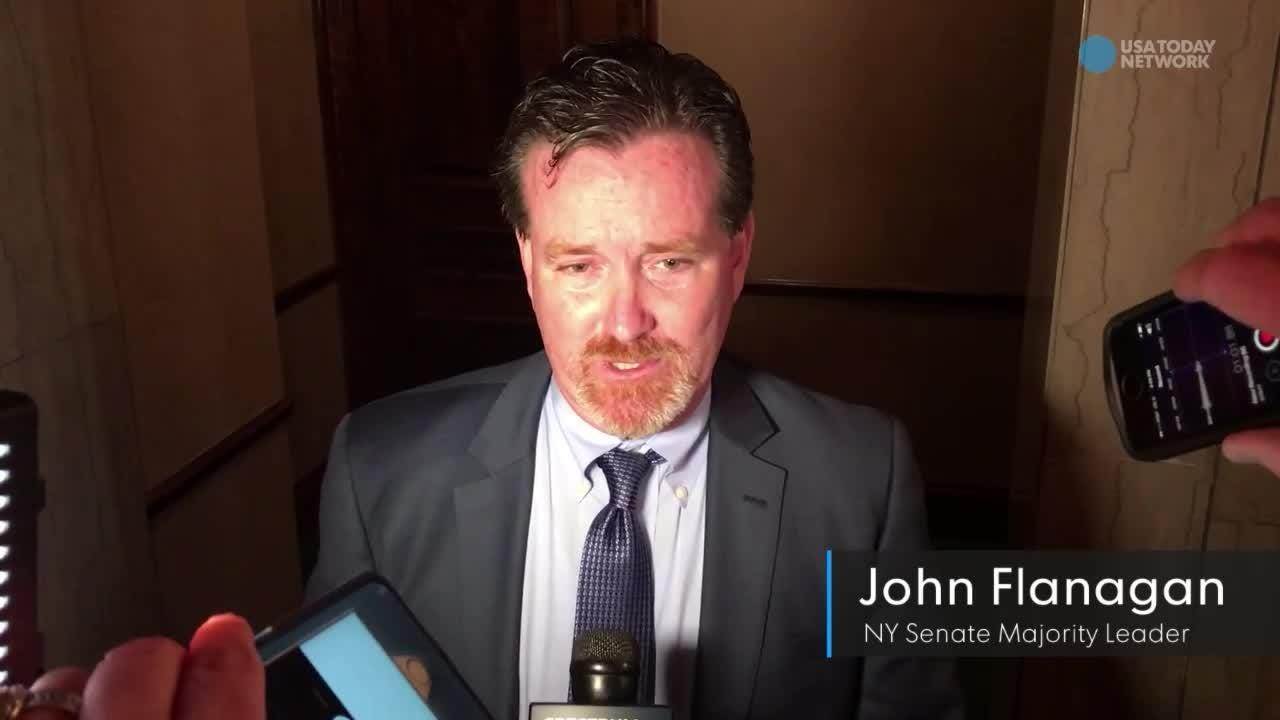 Video: NY Senate Leader John Flanagan defends pay tactic