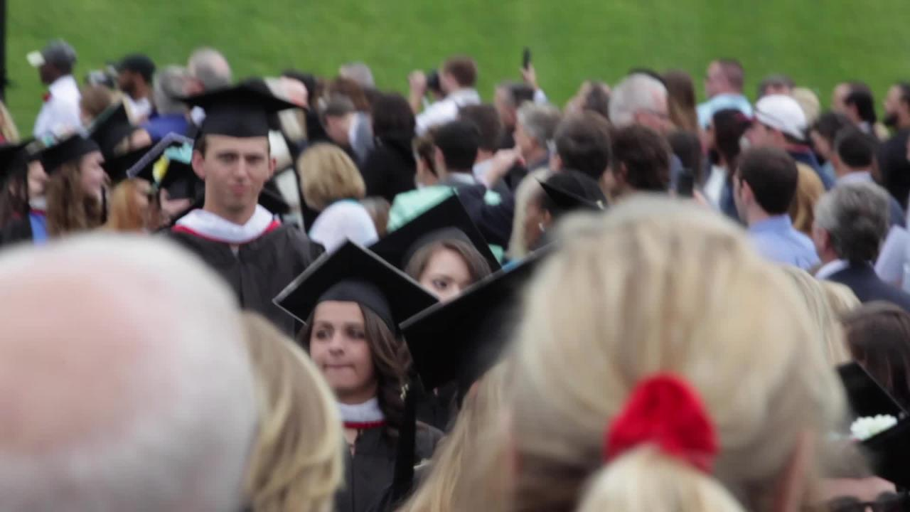 Marist College Class of 2017 graduates celebrate their commencement ceremony at the schools campus in Poughkeepsie, May 20, 2017. (Video by Michael Giacalone)