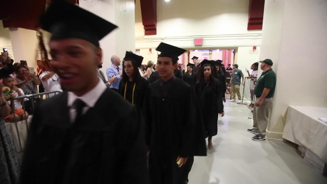 White Plains graduation at Westchester County Center in White Plains June 22, 2017.