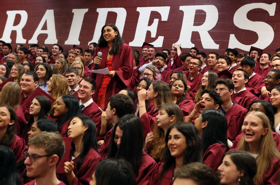 Scarsdale High School celebrates the 100th commencement exercises June 23, 2017 in Scarsdale.