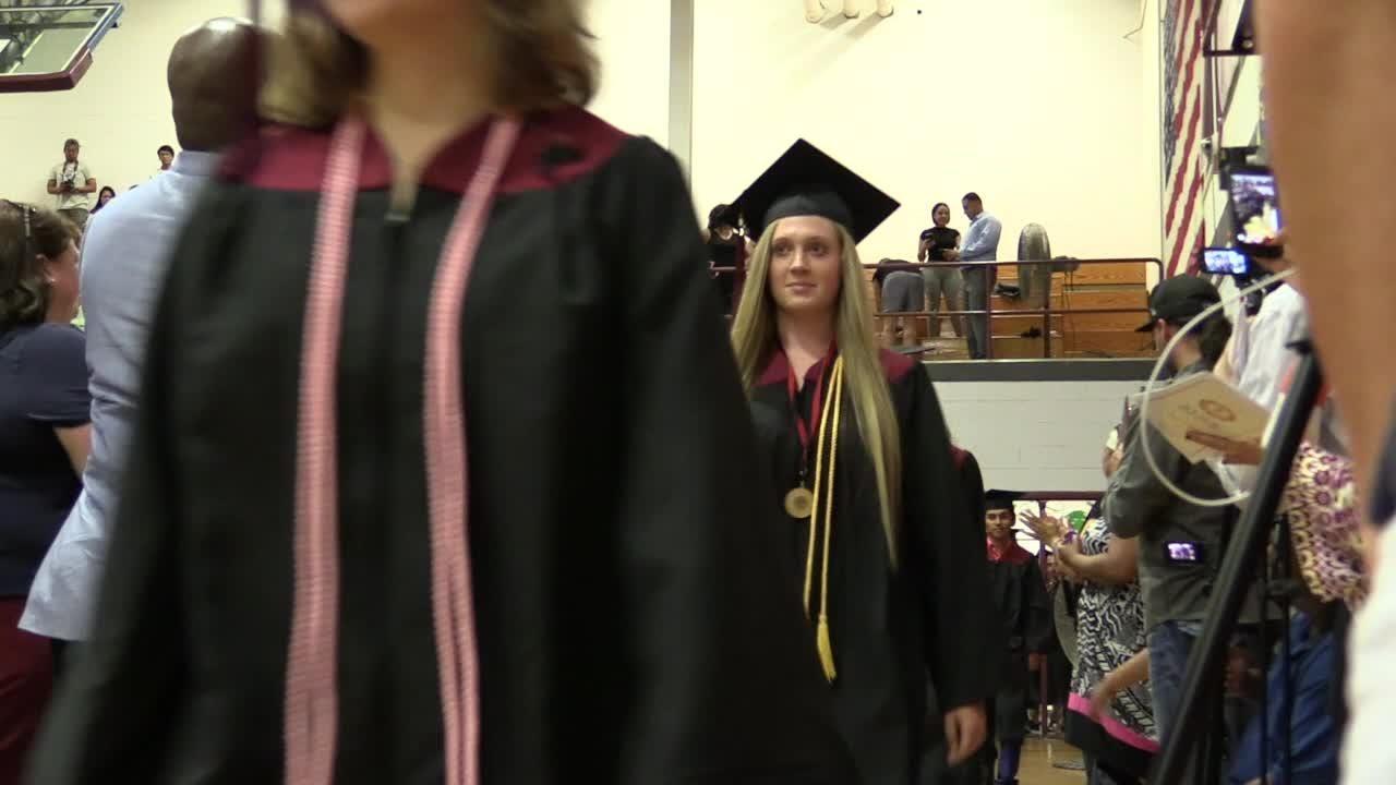 Nyack High School holds their graduation ceremony.