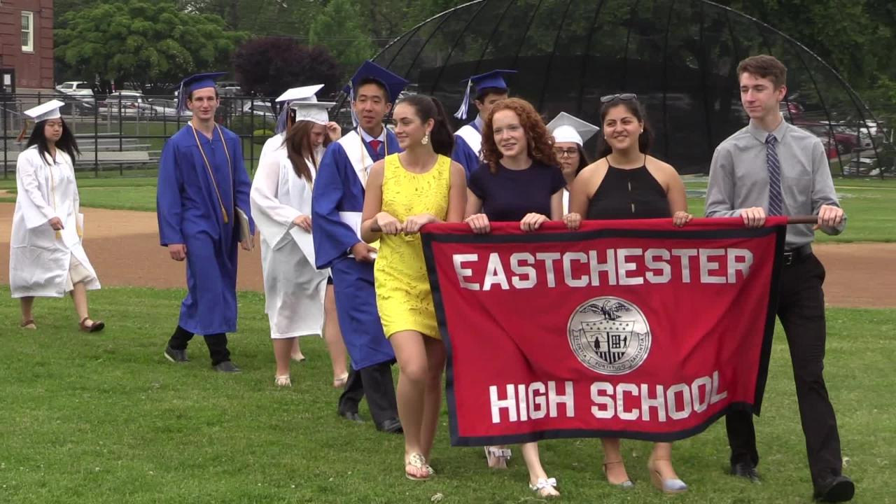 Eastchester High School Class of 2017 graduation.  Ricky Flores/lohud
