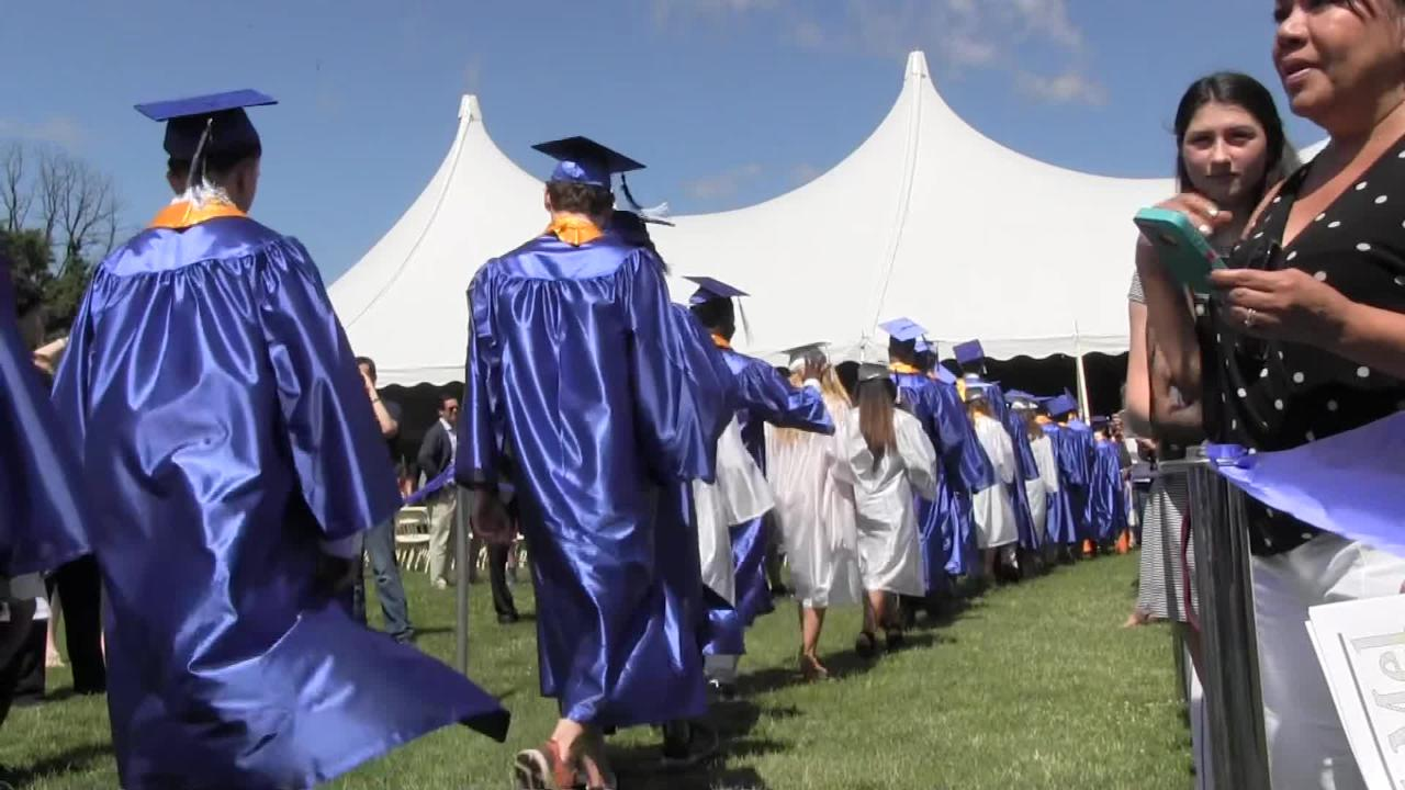Pelham High School Class of 2017 celebrated their graduation at Peham High School in Pelham on Saturday June 24, 2017. Video by Kurt Beebe.