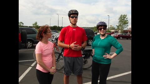 """Follow along in this edition of """"Fit For Two"""" as Laura and Carrie go biking!"""