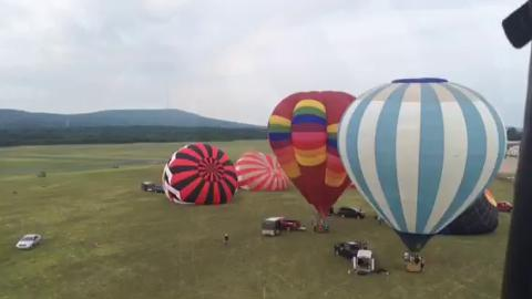 Daily Herald Media reporter Alison Dirrwent up in a hot air balloon.