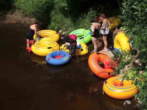 Check out tubing on the Little Wolf River near Weyauwega.