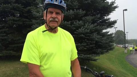 Virgil Radtke, a veteran who rode in the 2014 Bike for Honor Flight event, talks about the ride and the honor flight.