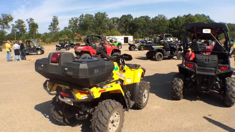 State and local officials gear up for an ATV outing at Dyracuse Recreational Park in Rome.