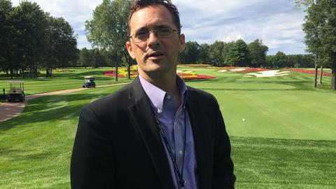 SentryWorld GM Mike James talks about the redesigned Hole #16 at Sentry World Golf Course.