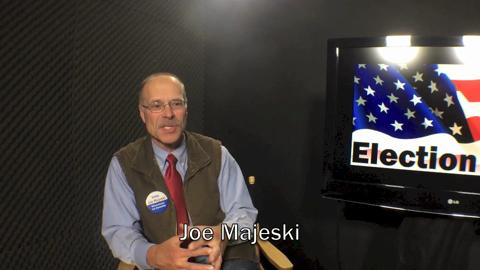 Joe Majeski is the Democratic candidate for Wisconsin's 1st Assembly District (Oct. 28, 2014).