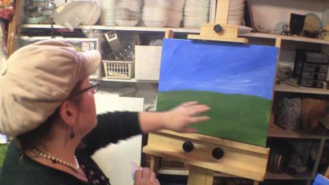 The Artist Next Door: Barbara Moss demonstrates tree technique
