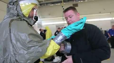 Emergency teams practice Ebola response