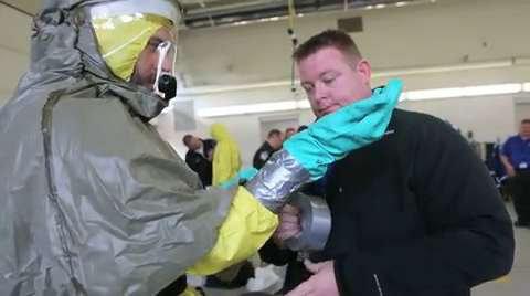 Emergency teams practice Ebola response