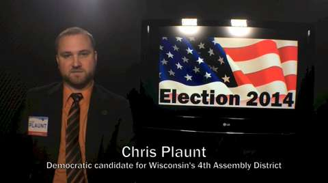 Chris Plaunt is the Democratic candidate for the 4th Assembly District (Oct. 27, 2014).