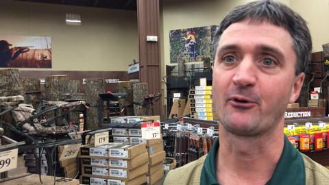 Tom Keenan, store manager at the Gander Mountain in Rothschild, talks about the hot items for deer hunters this season.