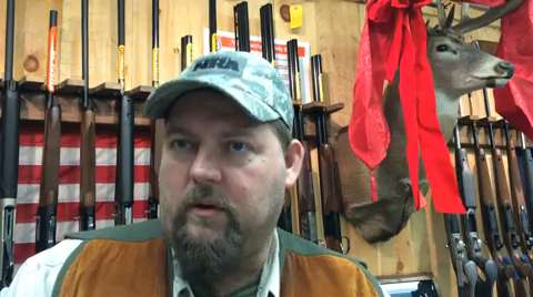Rob Hubbard, store manager of Central Wisconsin Firearms in Wausau, shares his plans for Christmas dinner. Hubbard and his family often feature game in the holiday meal.