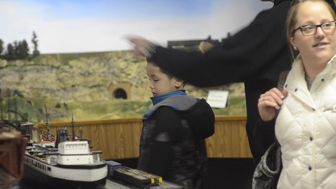 The Clipper City Model Railroad Club hosted an open house for the public to come and view their large display of miniature scenes inside their building at the Manitowoc County Expo Center Fair Grounds on Saturday, December 27, 2014.